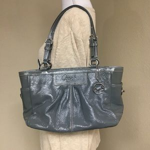 Coach Patent Leather Pleated Gallery Tote